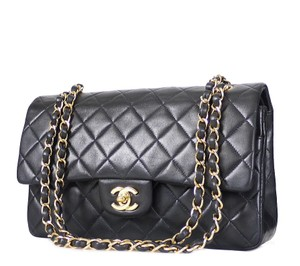 Chanel Classic Vintage Gold Shoulder Bag