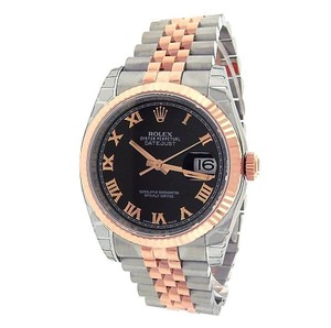 Rolex Rolex Datejust 116231 Stainless Steel 18k Rose Gold Automatic Black Me