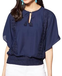 New York & Company Top navy blue