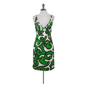 MILLY short dress Cotton Printed With Jeweled Neckline on Tradesy