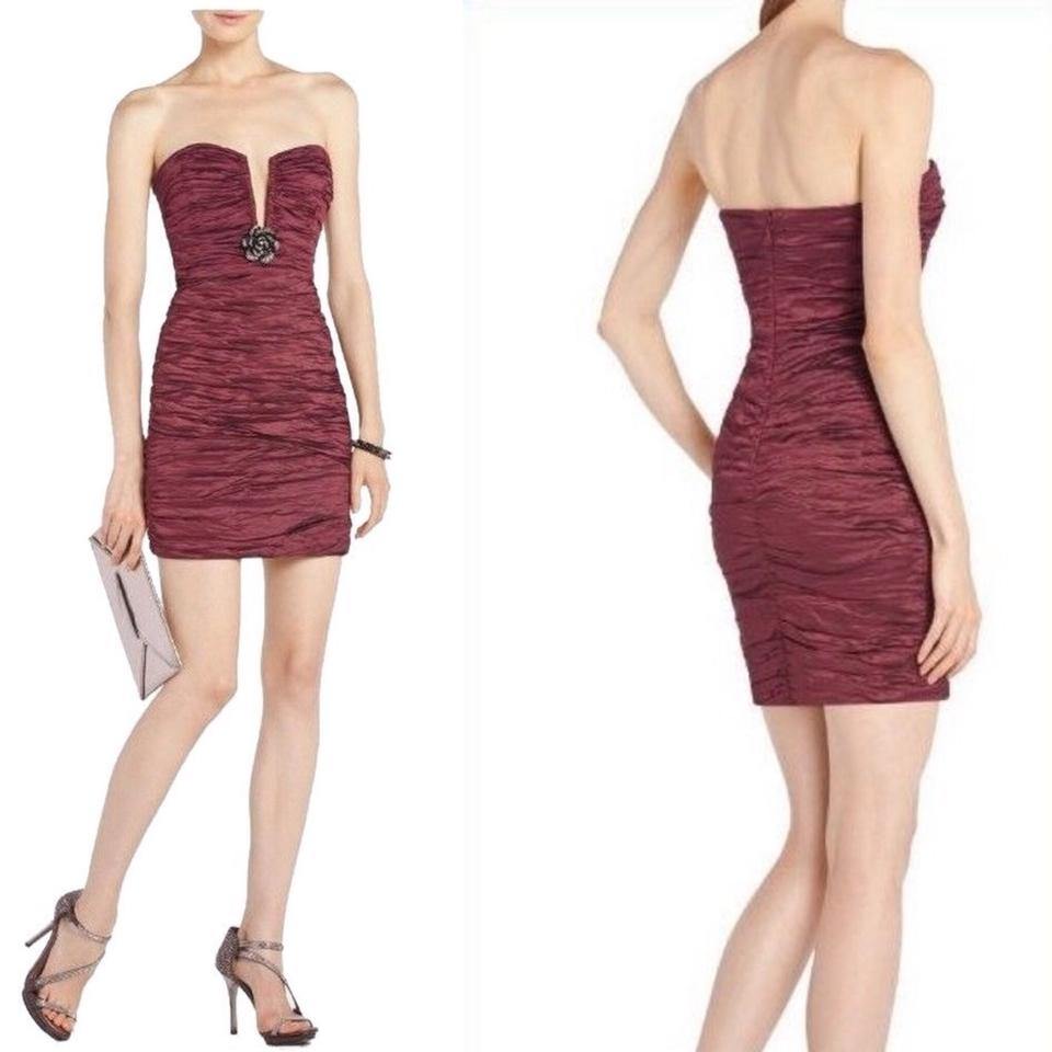 Neck Deep Strapless Ruby Ruched BCBGMAXAZRIA Tristina Dress Cocktail tS1qI