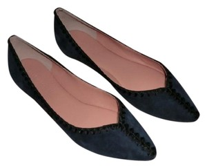 Sigerson Morrison Pointy Toe Suede Brand New Blue Flats