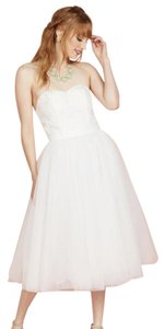 Modcloth A Love Above The Rest Fit And Flare Dress In White Wedding Dress
