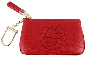 Gucci GUCCI 354358 Soho Leather Key Case Purse, Red
