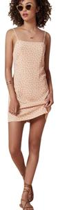 Reformation Cece Dress short dress Peach with white flowers on Tradesy