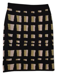 Ann Taylor Skirt navy with gold and light pink details