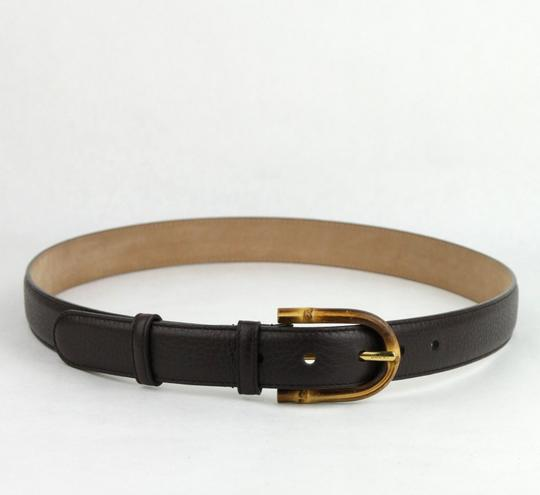 Gucci Women's Cocoa Brown Leather Belt w/Bamboo Buckle 90/36 322954 2140 Image 1