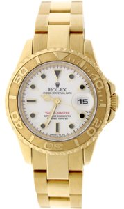 Rolex Rolex Yacht-Master Ladies 18K Yellow Gold 29mm White Dial Oyster Watch