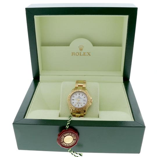 Rolex Rolex Yacht-Master Ladies 18K Yellow Gold 29mm White Dial Oyster Watch Image 2