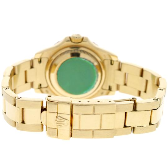 Rolex Rolex Yacht-Master Ladies 18K Yellow Gold 29mm White Dial Oyster Watch Image 7