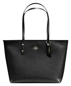 Coach 36875 Satchel 36876 Tote in black gold tone