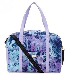 Betsey Johnson Nwt Weekender Luggage Duffle Navy Blue / Lilac Tie Dye Travel Bag