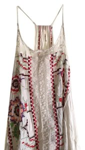 Free People Top White with colored detail