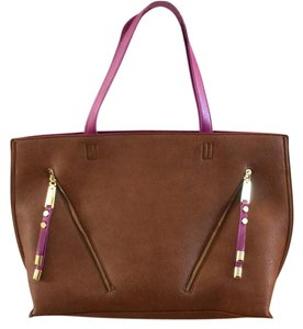 Steve Madden Tote in Tan & Purple