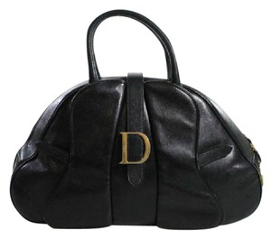 Dior Chic Leather Handbag Satchel in Black