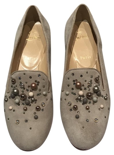 Preload https://img-static.tradesy.com/item/21376967/christian-louboutin-beige-candy-moc-jeweled-red-sole-loafer-flats-size-eu-385-approx-us-85-regular-m-0-2-540-540.jpg