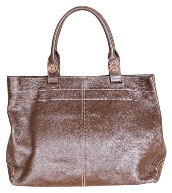 Item - Darling Button Detail - Huge For All Your Gear Brown Leather Tote