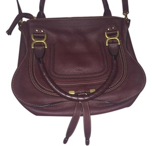 Chlo Chloe Marcie Medium Satchel in Burgundy