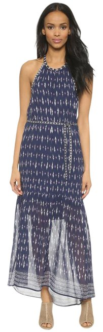 Item - Blue Ivory and Purple Maryanna Long Casual Maxi Dress Size 8 (M)