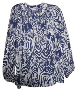 Lilly Pulitzer Top medium blue/white