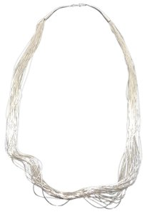 Other Liquid Sterling Silver 30-Strand 19 inch Necklace