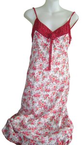 Red Floral Pattern Maxi Dress by Newport News Summer Party