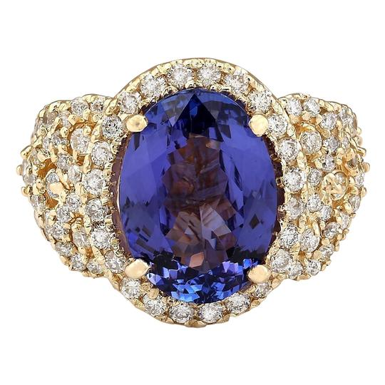 Preload https://img-static.tradesy.com/item/21377323/blue-755-carat-natural-tanzanite-14k-yellow-gold-diamond-ring-0-0-540-540.jpg