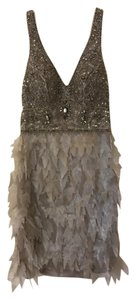 Sue Wong Empire Waist Beaded Feathers Vintage 20s Dress