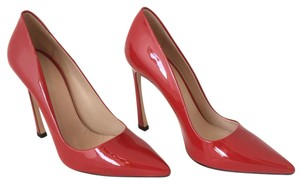 Giambattista Valli Patent Leather Patent Pointed Toe Red Pumps