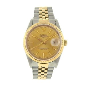 Rolex Rolex Date 15223 Stainless Steel Automatic 18k Yellow Gold Men's Watch