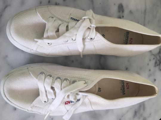 Superga Fred Segal Classic Womens Sneakers Fashion Sneakers Platform Sneakers WHITE Athletic