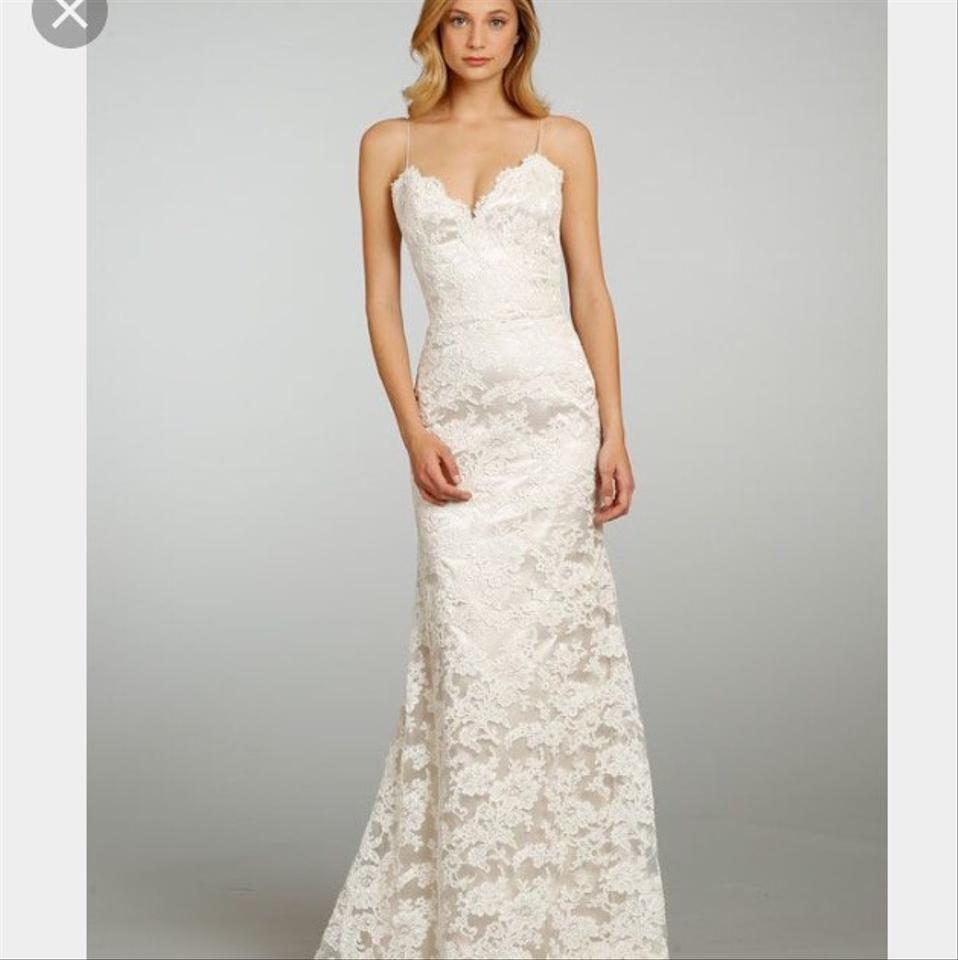 Jim Hjelm Ivory and Champagne Style 8307 Formal Dress Size 4 (S ...