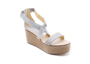 Brunello Cucinelli Platforms Women's Sandals gray Wedges