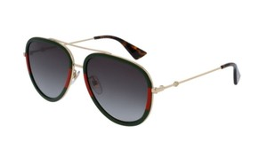 Gucci Gucci Red Green Gold GG 0062 S 003 Sunglasses