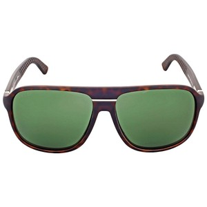Gucci GUCCI Aviator Green Lens Men's Sunglasses