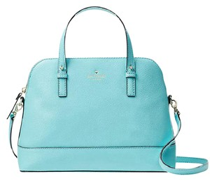 Kate Spade Small Rachelle Black Satchel in atoll blue / Gold tone