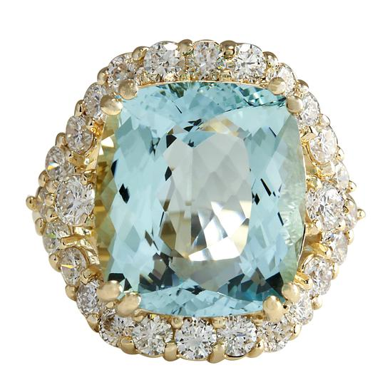 Preload https://img-static.tradesy.com/item/21377883/blue-1313-carat-natural-aquamarine-14k-yellow-gold-diamond-ring-0-0-540-540.jpg