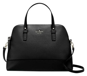 Kate Spade Small Rachelle Satchel in black / Gold tone