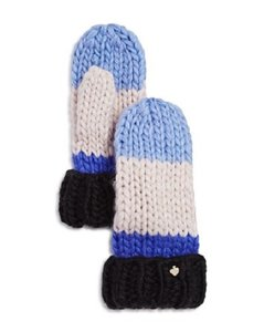 Kate Spade Hand Knit Colorblock Mitten