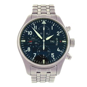 IWC IWC Pilot's IW377704 Stainless Steel Chronograph Automatic Black Men's