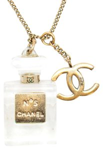 Chanel #11883 CC Clear Perfume bottle charm necklace