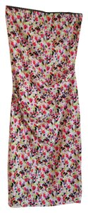 Nicole Miller Strapless Rouching Mid Length Dress