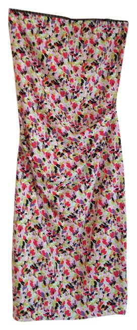 Item - Multicolor Strapless Collection Touching Mid-length Night Out Dress Size 10 (M)