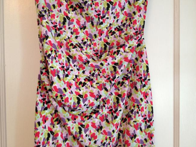 Nicole Miller Strapless Rouching Mid Length Dress Image 1