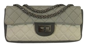 Chanel Tricolor Double Flap Quilted Shoulder Bag