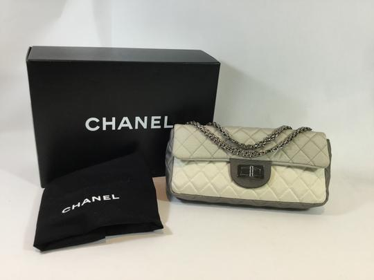 Chanel Tricolor Double Flap Quilted Chain Single Flap Shoulder Bag