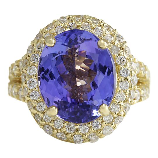 Fashion Strada 8.54 CTW Natural Tanzanite And Diamond Ring In 14K Yellow Gold Image 0