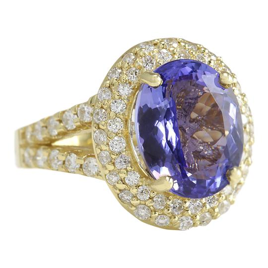 Fashion Strada 8.54 CTW Natural Tanzanite And Diamond Ring In 14K Yellow Gold Image 1