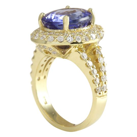 Fashion Strada 8.54 CTW Natural Tanzanite And Diamond Ring In 14K Yellow Gold Image 2