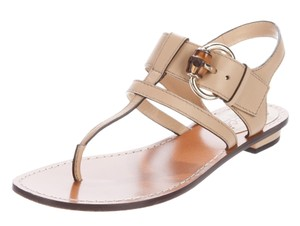 Gucci Horsebit Logo Ankle Strap Hardware Beige, Brown, Gold Sandals